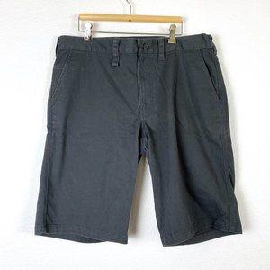 Nike 6.0 Chino Cotton Blend Gray Shorts Size 36